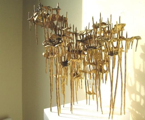 """Large Sky 2003 bronze cast, unique edition 12"""" x 16"""" x 16"""" (31cm x 41 x 41)"""