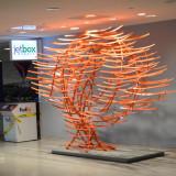 Voice of Tomorrow, 14ft x 9ft x 5ft (4.5m x 3 x 1.5), 150ft steel tubing, 150 elements, Departure Hall JFK Terminal 4, New York