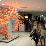 Voice of Tomorrow, 14ft x 9ft x 5ft (4.5m x 3 x 1.5), 150ft steel tubing, 150 elements, Departure Hall JFK Terminal 4, New York