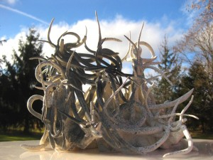 """Balance of Gray  2012, 13"""" x 15"""" x 13"""" (33cm x 38cm x 33cm), fired clay, glaze"""