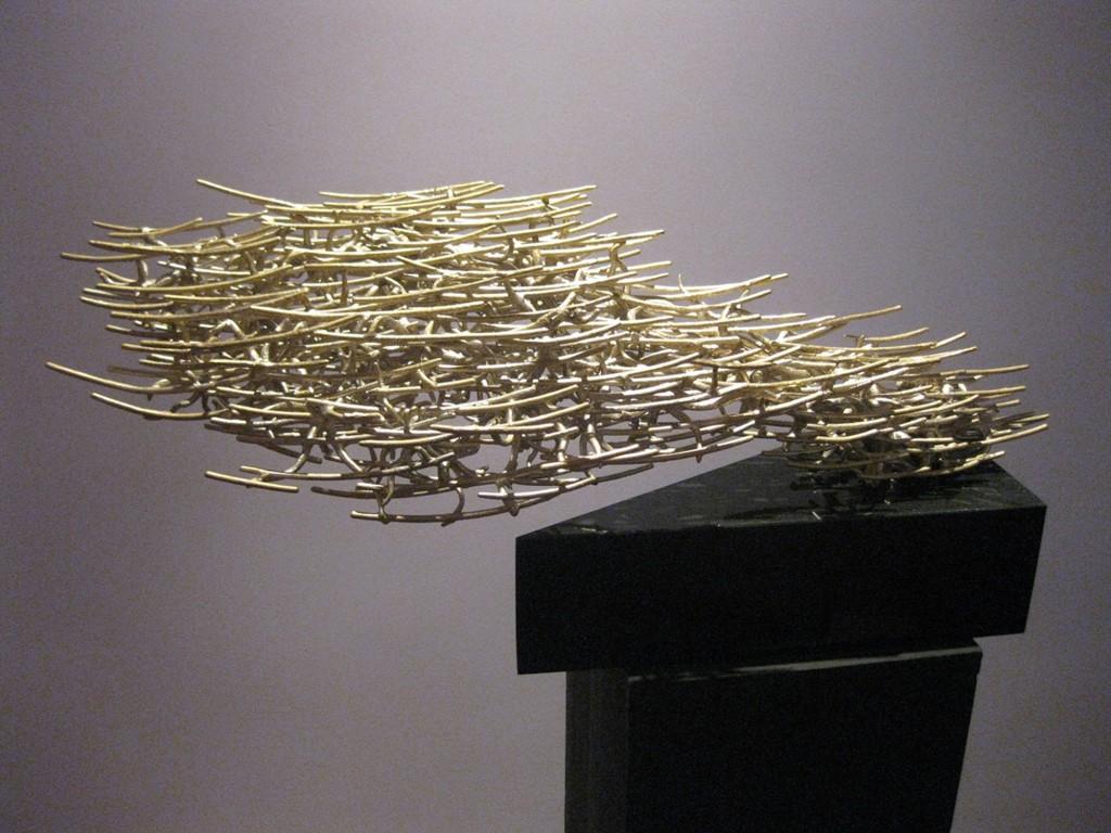 "Balance of Time 2012 10"" x 31"" x 13"" (25cm x 80cm x 33cm), bronze, singular lost-wax cast without welding"