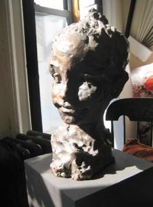 Child's Head 2006, life-size, bronze, edition of three Collection of Dr. Vessela Rashkova Lukanova