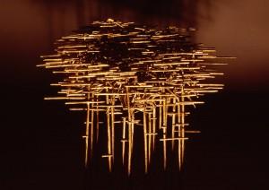 "Dense Fog  2003 14"" x 18 x 11 (35.5cm x 46cm x 28cm), bronze cast, unique edition Collection Yves Bouvier, Geneva, Switzerland"