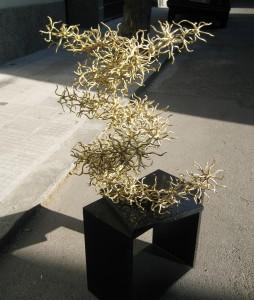 "Fire Dance  2008, 30.3"" x 31.5"" x 21.2"" (77 cm x 80cm x 54cm), brass, unique cast; Collection Alexei and Tatiana Voinov, Moscow, Russia"