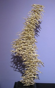 """Horizontal Thunder  2008, 23"""" x 11"""" x 8"""" (58cm x 28cm x 20cm), brass, unique cast, one-of-a-kind piece: Collection Michel and Helene David-Weill, Paris"""