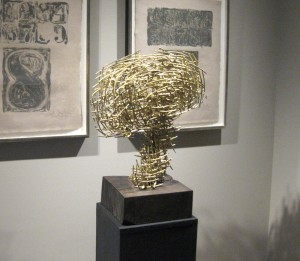 """Sound of Future  2008, 17' x 10"""" x 17"""" (42cm x 25cm x 42cm), brass, unique cast, one-of a-kind piece; Private collection, New York"""