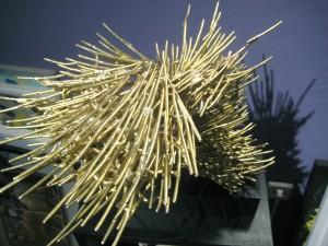 """Spiral of the Sun  2008, 14.5"""" x 12.5"""" x 14"""" (37cm x 31cm x 35.5cm) bronze cast, unique edition"""