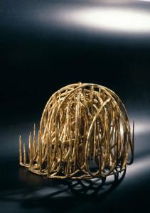 "Transparent Volcano  2001, 14"" x 17"" x 15"" (35cm x 43cm x 38cm) bronze, lost-wax, unique cast; Collection of Dr. Vessela Rashkova Lukanova"