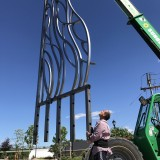 ENTRANCE TO NOW - 4000lb of stainless steel, bent and constructed by the artist  DIMITAR LUKANOV 2018  CITY OF AMSTERDAM PUBLIC ART COMMISSION